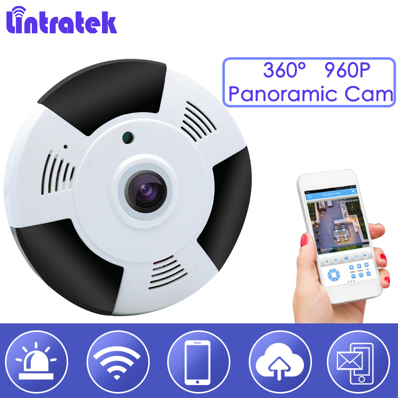 lintratek Wifi IP Camera Nanny cam 360 Fisheye 960P cctv Security Mini VR Panoramic 1.3MP p2p Ceiling Night Vsion Monitor hd S28