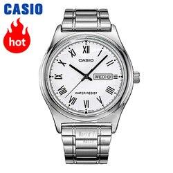 Zegarek Casio Prosty zegarek mężczyźni top marka luksusowy zegarek kwarcowy Wodoodporny zegarek retro mężczyźni Sport wojskowy Zegarek relogio masculino reloj hombre erkek kol saati montre homme zegarek meski MTP-V006