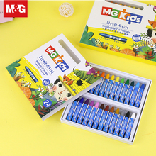 12/24/36 Colors Washable Oil Pastel Brush Pen Student Painting Crayon Drawing Sketch Art Supplies School Stationery ZGM91151 86pcs children drawing set water color pen crayon oil pastel painting brush drawing tool art supplies school stationery set