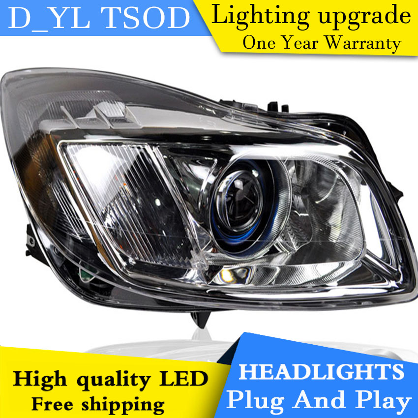 D YL Car Styling for Regal GS Headlights 2009 2013 Regal GS LED Headlight DRL Lens