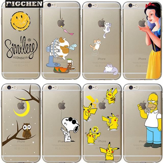 save off ddfad c61f0 US $1.78 10% OFF|New arrive 24 stylel For Apple iphone 6 6s case  Transparent Snow White TinkerBell Hand grasp the logo cell phone Cases  Coque-in ...