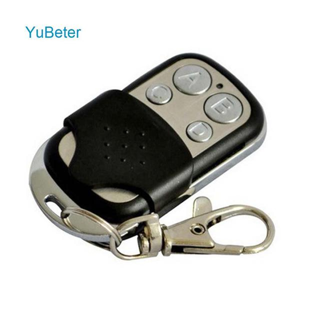 YuBeter Universal Wireless 433 Mhz RF Remote Control 315/433 Mhz EV1527 Learning code 4 Channel For Gate Garage Door Keys