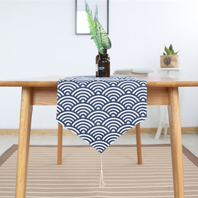 New Table Runner Runners Cotton Rectangle Dinner Coffee Tables Flag Geometric Home Decorative Covers Wedding Decoration