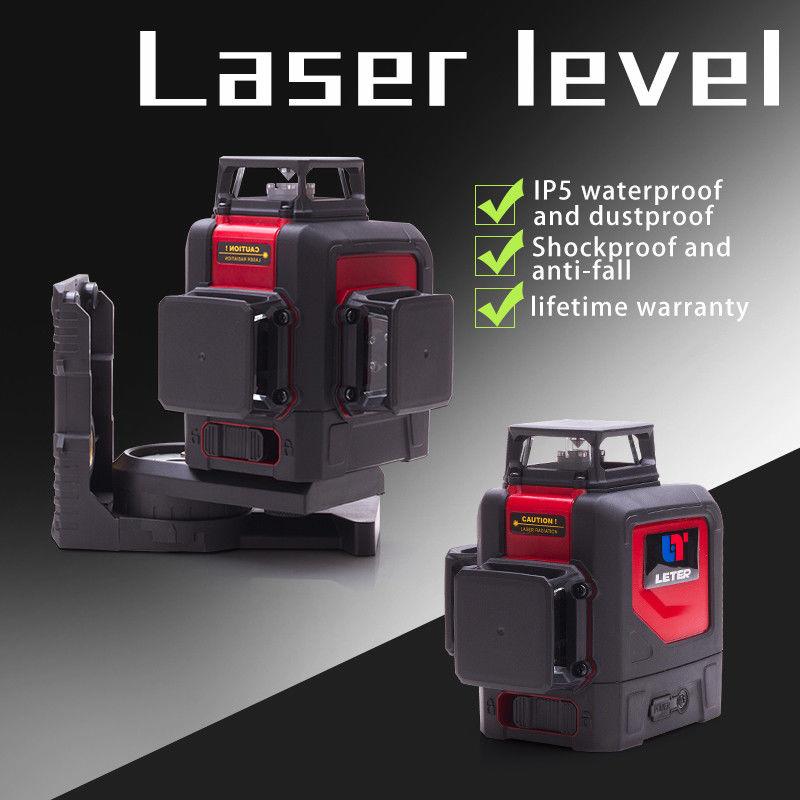 NOUVELLE LETTRE 3D niveau laser 360 niveau vert laser ligne laser rouge