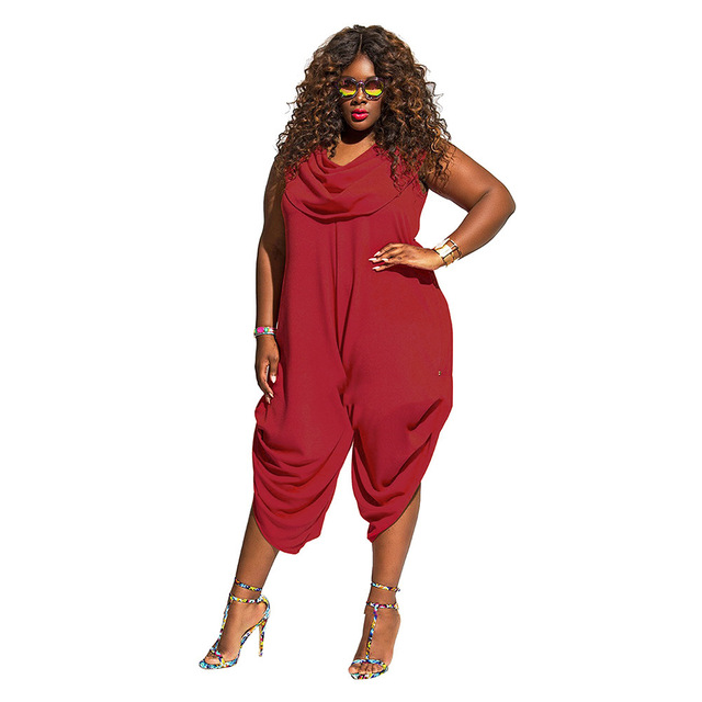 Sexy Jumpsuits And Rompers For Women Plus Size Clothing Summer European  Style New Loose High Waist cfdd9b9e75d7