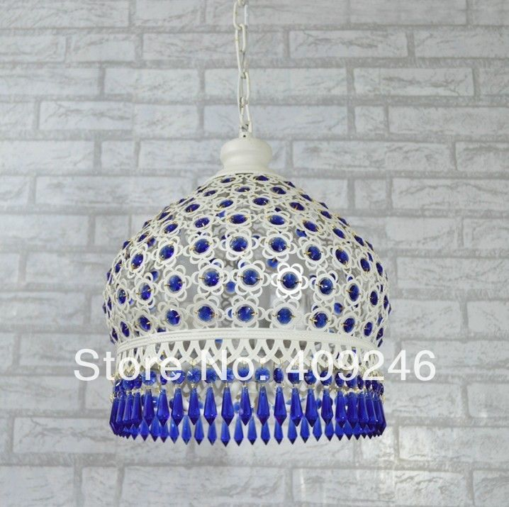 European Blue K9 Crystal Ceiling Lamp Iron Chandelier Bohemia Droplight Corridor Dining Room Bedroom Balcony Hall Lighting european crystal chandelier lights pendant lamp for dining room bedroom cloakroom stairs