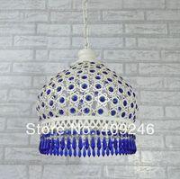 Europeu Azul K9 Lâmpada Do Teto de Cristal Lustre de Ferro Boemia Droplight Sala de Jantar Quarto Corredor Varanda Iluminação da Sala