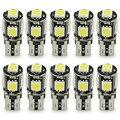 10 unids LED T10 canbus de W5W 5050 5 smd led T10 194 168 lámpara led canbus T10 5smd 5050 error luz blanca libre bombilla