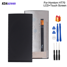 Original For HOMTOM HT70 LCD Display Touch Screen Replacement For HOMTOM HT70 Screen LCD Display Phone Parts Free Tools lcd display screen replacement for philips s388 tools