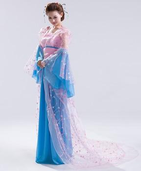 Ancient clothes elegant princess hanfu tang dynasty fairy costume women's train costume full dress Chinese Folk Dance