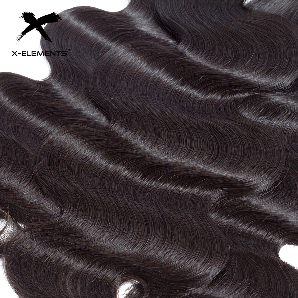 X-Elements Malaysian Body Wave Hair 1 Bundles 100% Human Hair Bundles Non-Remy Hair Weaves Natural Color 8-26 Hair Extensions (13)