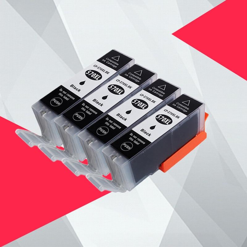Black PGI570 PGI 570 pgi 570xl Compatible font b Cartridge b font For Canon PIXMA MG5750