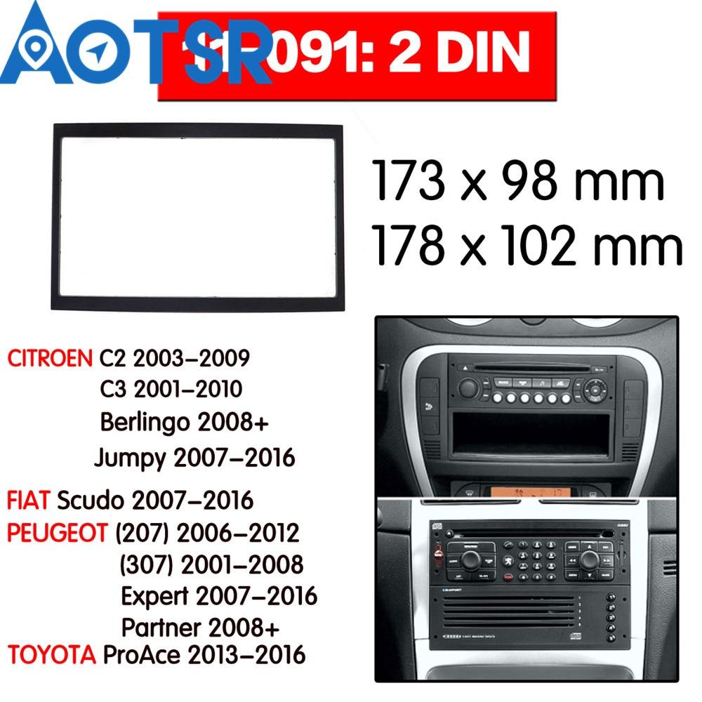 Peugeot 207//307 De 2/DIN de radio Citroen C2//C3 Fiat Scudo