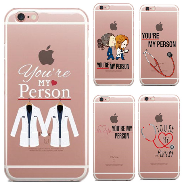 Youre my person quote personalised greys anatomy thin soft tpu phone case for iphone