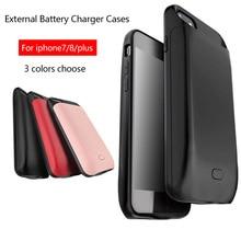 5000/7200mAh Fashion Smart Magnetic Back TPU Bumper External Power Bank Pack