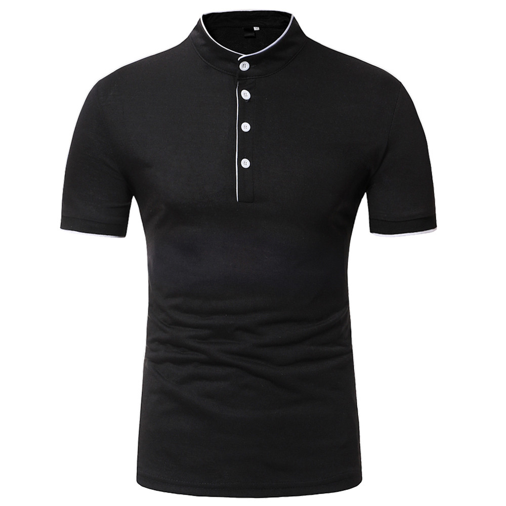 Mens   POLO   Shirts Cotton Short Sleeve Camisas   Polo   Summer Stand Collar Male   Polo   Shirt Business & Casual