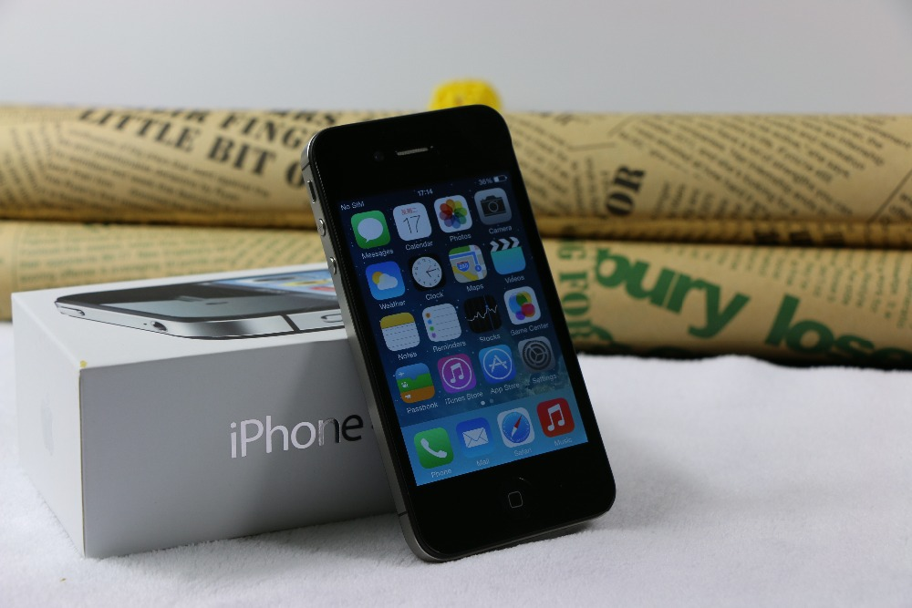 "iPhone4s Original Unlocked Apple iPhone 4S Used Phone 3.5""IPS Smartphone 512 MB RAM 16/32GB Mobile Phone 8MP Cell Phones"