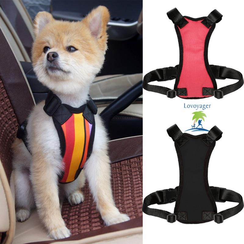 Pet pes auto bezpečnost Seat Belt pes postroj vesta nastavitelný cestovní auto límec vodítka klip černá červená