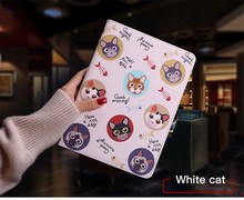 Tablet Protective Case For apple ipad pro11 inch Flip smart stand cover pu leather Cute cat Cartoon illustration Case tablet protective case for apple ipad mini 4 flip smart stand cover pu leather cute cat cartoon illustration cases a1538 a1550