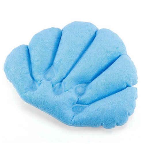 Wygodna wanna z hydromasażem pcv poduszka piankowa Pad zagłówek nadmuchiwana poduszka ssania w kształcie muszli w kształcie szyi poduszka wanna