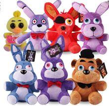6pcs wholesale 25cm Official Five Nights At Freddy s 4 FNAF Bonnie Foxy Freddy Fazbear Bear