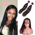 360 Lace Frontal Closure With Bundles Brazilian Straight Hair 360 Lace Frontal With Bundles Brazilian Virgin Hair With Closure
