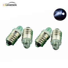4x E10 Screw Led Upgrade flashlight  Bulb For Petzl Zoom Duo Head Torch Lamp pure white 3V