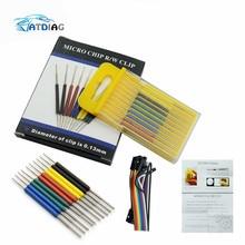 10 шт./компл. микро сим карт IC зажим SOP SOIC/TSSOP/тсоп/SSOP/MSOP/PLCC/QFP/TQFP/LQFP/SMD IC тест чип pin мини чипов разъем адаптера