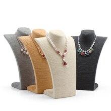 Maniquí Collar de Cordón Decorar Collar Colgante Exhibición de La Joyería Estante de Exhibición de Almacenamiento Titular de Soporte para el Hogar Tienda de Joyería