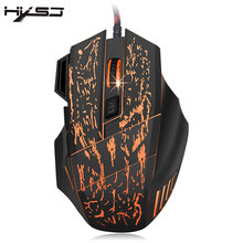 HXSJ Portable 7 Buttons Color Changing LED Optical USB Wired Mouse Gamer Mice Gaming Mouse For Pro Gamer Laptop Computer Mouses