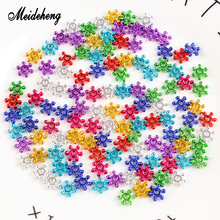 Meideheng ABS Electroplating Snowflake Beads Bright Colorful Slime Filler Home Decoration Needlework Beads For Jewelry Making meideheng acrylic circle beads transparent electroplating slime crystal mud filler ornament accessories for hair ring needlework