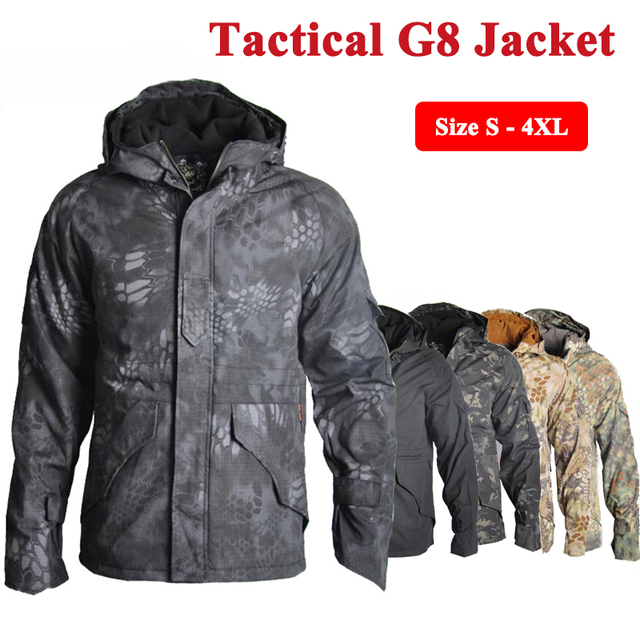 Tactical G8 Jacket Hunting Clothes Men Winter Camouflage ...