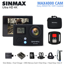 SINMAX Max4000 remote Ultra HD 4k wifi action camera 30fps WiFi 1080P 60fps 2.0 LCD 170D sports go camera pro waterproof
