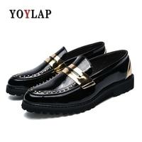 929429009b Yoylap Brand 2018 Man Flat Classic Men Dress Shoes Microfiber Leather  Carved Italian Formal Oxford