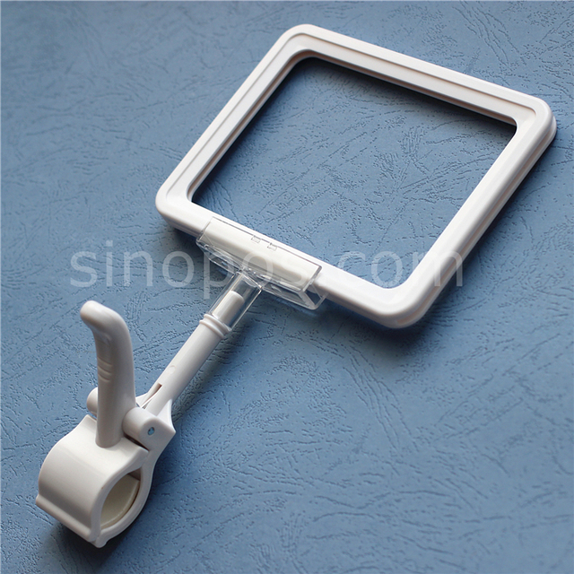 Heavy Duty Gripper Stem Mount Sign Frame Holders, A4 A5 A6 card price tag poster display shelf rack large POP clip clamp base