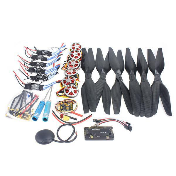 6 Axis Foldable Rack RC Quadcopter Kit APM2.8 Flight Control Board+GPS+750KV Brushless Motor+15x5.5 Propeller+30A ESC F05422-C rc helicopter kit 4 axle apm2 8 flight control board gps 1000kv brushless motor 10x4 7 propeller 30a esc foldable rack f02015 h