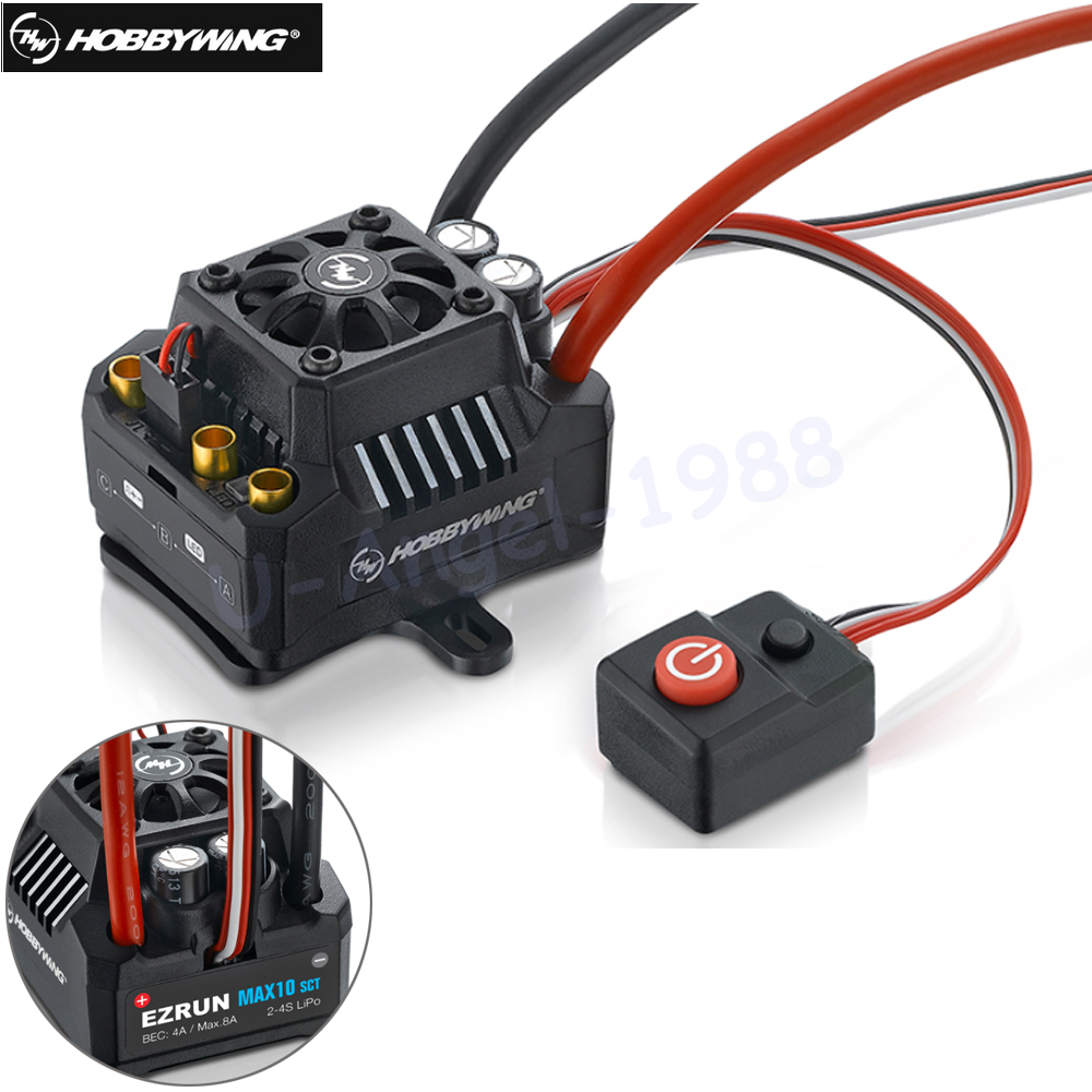 Hobbywing EZRUN Max10 120A ESC Waterproof Brushless ESC 1/10 SCT RC Hobby Truck MAX10-SCT 120A hobbywing ezrun max10 120a esc waterproof brushless esc 1 10 sct rc hobby truck max10 sct 120a