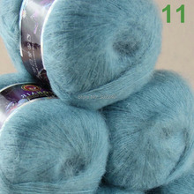 Sale Lot of 3 balls x 50g LACE MOHAIR Cashmere silk hand Yarn Knitting teal 11