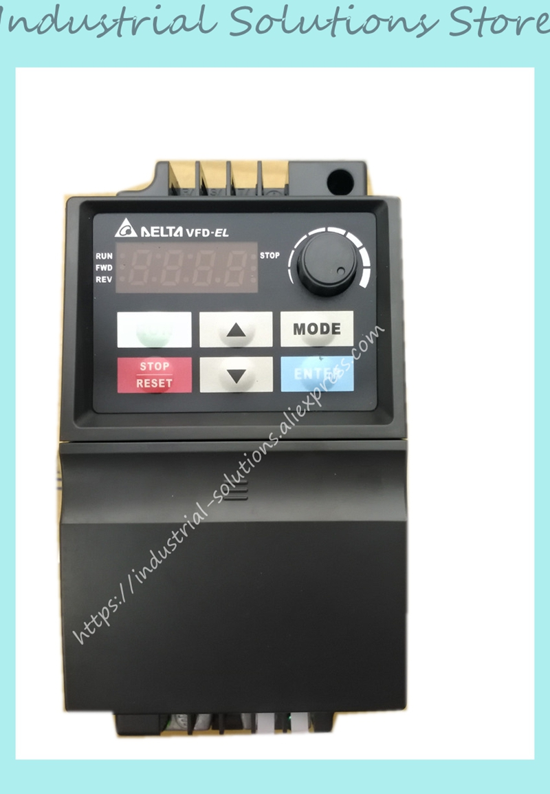 AC 1ph 220V to AC 3ph El Delta Inverter Series VFD002EL21A 0~240V 1.6A 0.1~600Hz VFD-EL Series 0.25HP New Original vfd110cp43b 21 delta vfd cp2000 vfd inverter frequency converter 11kw 15hp 3ph ac380 480v 600hz fan and water pump