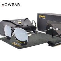 AOWEAR Classique Aviator lunettes de Soleil Hommes Polarisées Coloré Miroir Conduite Lunettes Femmes UV400 Shades Lunettes Lunettes De Soleil Oculos Gafas