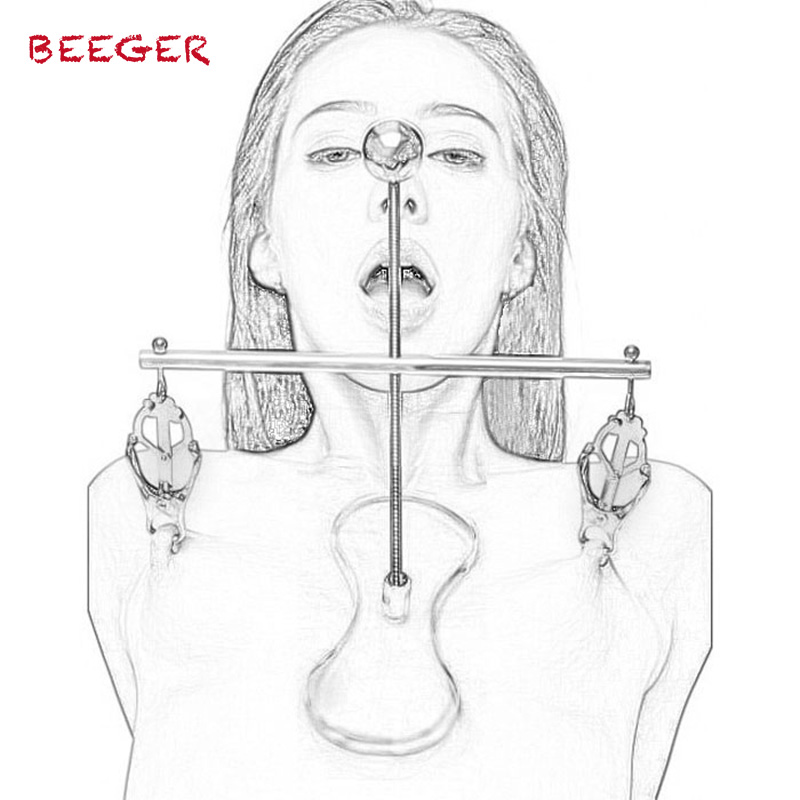 BEEGER Adjustable Butterfly Torture Nipple Clamps Breast Bondage Restraints Fetish Adult Sex Games BDSM Sex Toys For Couples belsiang bdsm nipple clamps clip for women torture nipple clamps bondage slave adjustable breast stimulate sex toys for couples