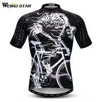 Weimostar Skull Riding Cycling Jersey Men Mountain Bike Jersey mtb Bicycle Wear Maillot Ciclismo Summer Anti sweat Cycling Shirt