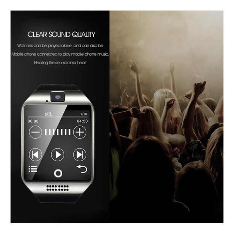 นาฬิกาสมาร์ทนาฬิกา Q18 ด้วยซิมการ์ดช่อง Push Message การเชื่อมต่อ Bluetooth โทรศัพท์ Android ดีกว่า DZ09 Smartwatch นาฬิกาผู้ชาย