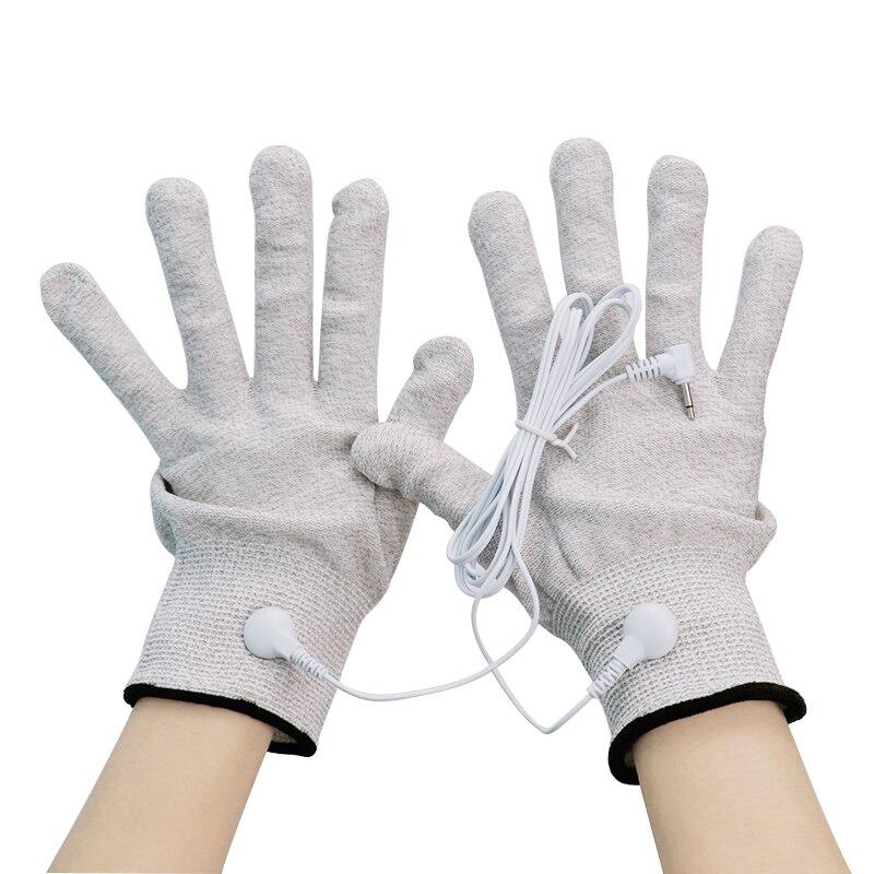 1 Paar Magie Puls Leitfähigen Massage Handschuhe Mit Kabel Für Zehn Gesundheit Pflege Maschinen Elektrische Akupunktur Physiotherapie Massager Reichhaltiges Angebot Und Schnelle Lieferung