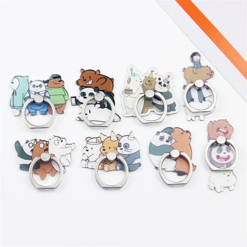 UVR Mobile Phone Stand Holder Finger Ring Smartphone Cartoon Bear Cell Phone Holder Stand For Iphone Xiaomi Huawei All Phone