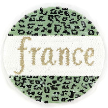 Biker Patches for clothing T shirt 225mm Leopard france Sequined Sequins T-shirt Womens Fashion Tops Shirt Patch Clothes
