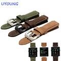 24*16mm hot sale vivoactive matagal acessórios de moda pulseira de couro marrom relógio para garmin