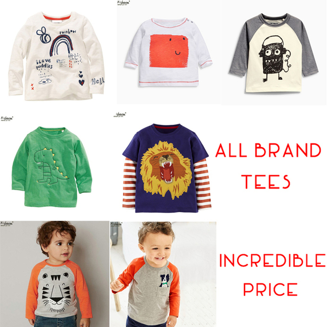 dfe747ec761 US $6.88 |2017 CLEARANCE SALE Brand Cheap Boys Girls T Shirt Tops Designer  Toddler Baby Boys Girls Clothes Cotton Long Sleeve Tee Shirt-in T-Shirts ...