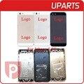 Hight qualidade para iphone 5 5g habitação black white gold metal liga tampa traseira com botões com sim tray car free ship + Trilha não