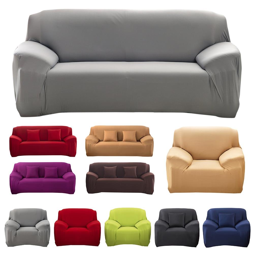 Modern Decorative Elastic Sofa Cover Solid Color Fashion